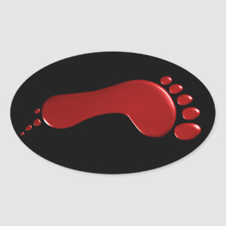 Bloody Left Footprint Sticker