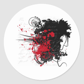 Bloody Letter Design Products Stickers
