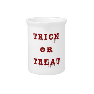 Bloody Letter Trick or Treat Beverage Pitcher