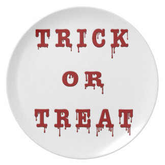 Bloody Letter Trick or Treat Dinner Plate