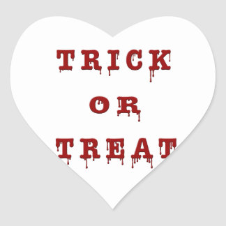 Bloody Letter Trick or Treat Heart Sticker