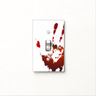 Bloody light switch cover
