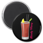 Bloody Mary 2 Inch Round Magnet