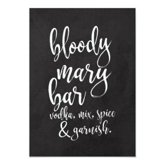 Bloody Mary Bar Affordable Chalkboard Wedding Sign Card