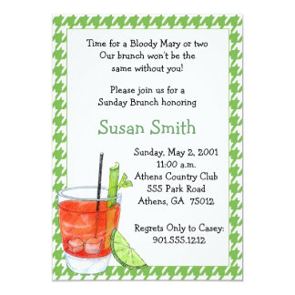 "Bloody Mary Brunch Invitation 5"" X 7"" Invitation Card"