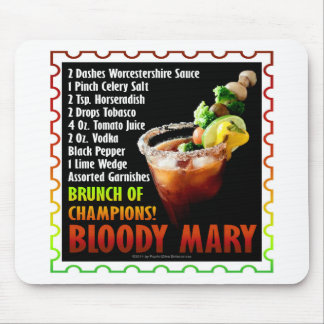 BLOODY MARY, Brunch of Champions Mouse Pad