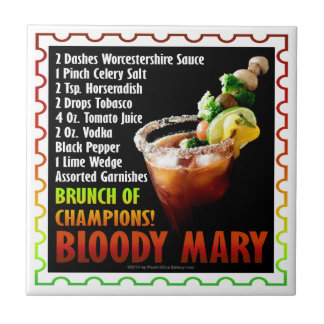 BLOODY MARY, Brunch of Champions Small Square Tile