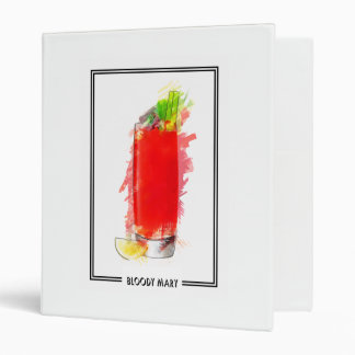Bloody Mary Cocktail Marker Sketch 3 Ring Binder