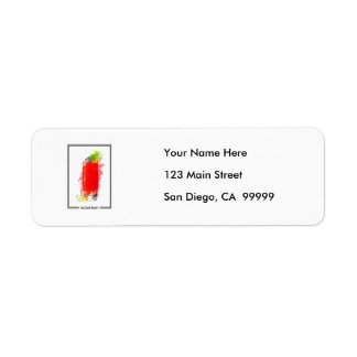 Bloody Mary Cocktail Marker Sketch Return Address Labels