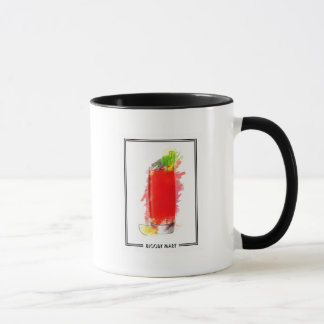 Bloody Mary Cocktail Marker Sketch Mug