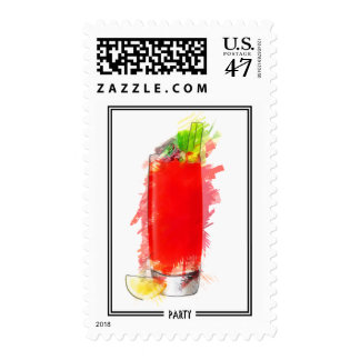 Bloody Mary Cocktail Marker Sketch Stamp