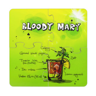 Bloody Mary Cocktail Puzzle Coaster