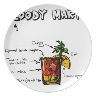 Bloody Mary Cocktail Recipe Dinner Plate