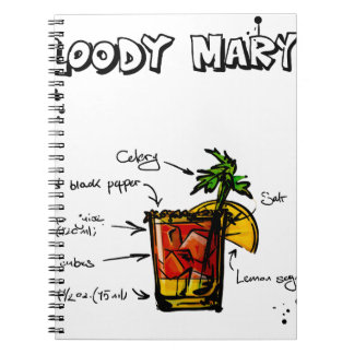 Bloody Mary Cocktail Recipe Notebook