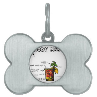 Bloody Mary Cocktail Recipe Pet Name Tag