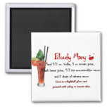 Bloody Mary Drink Recipe 2 Inch Square Magnet