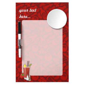 Bloody Mary Dry Erase Board With Mirror
