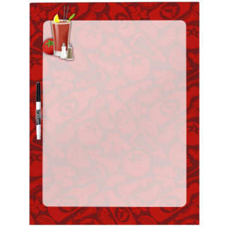 Bloody Mary Dry Erase White Board