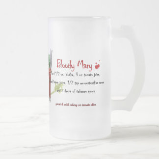 Bloody Mary Frosted Glass Beer Mug