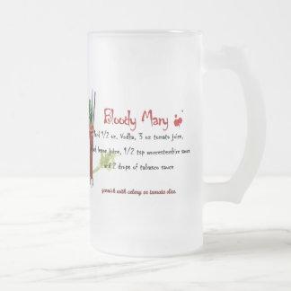 Bloody mary jarra de cerveza esmerilada
