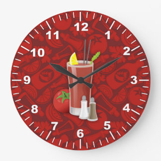 Bloody Mary Large Clock