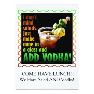 BLOODY MARY, LOADED UP WITH BOOZE 5.5X7.5 PAPER INVITATION CARD