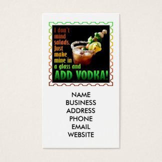 BLOODY MARY, LOADED UP WITH BOOZE BUSINESS CARD