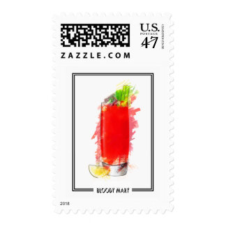 Bloody Mary Marker Sketch Postage Stamp