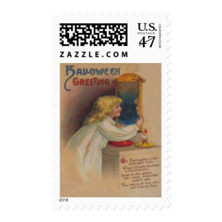 Bloody Mary Mirror Cute Little Girl Postage Stamp