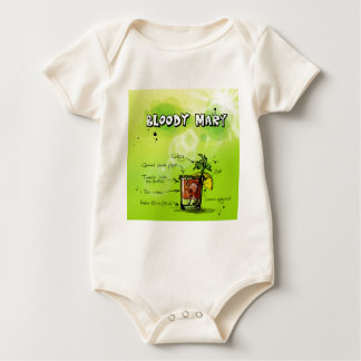 Bloody Mary Recipe - Cocktail Gift Baby Bodysuit