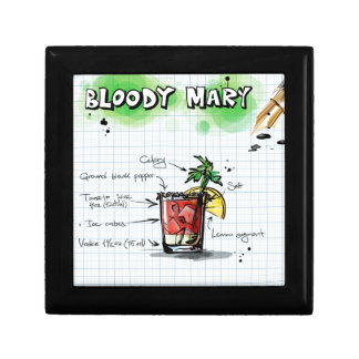 Bloody Mary Recipe - Cocktail Gift Jewelry Box