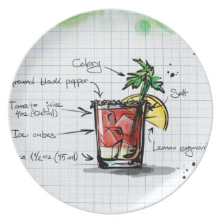 Bloody Mary Recipe - Cocktail Gift Plate