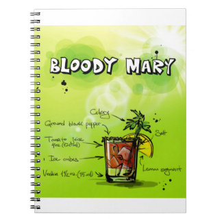 Bloody Mary Recipe - Cocktail Gift Spiral Notebook