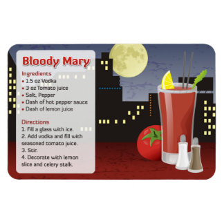 Bloody Mary Recipe Magnet