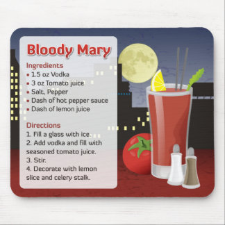 Bloody Mary Recipe Mouse Pad