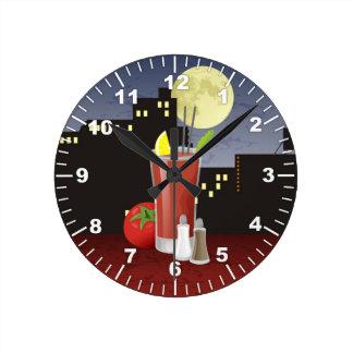 Bloody Mary Round Clock