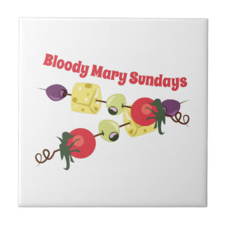 Bloody Mary Sundays Small Square Tile