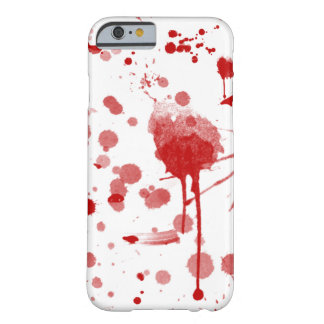 Bloody Mess Drips Splatters Custom Color BG Barely There iPhone 6 Case