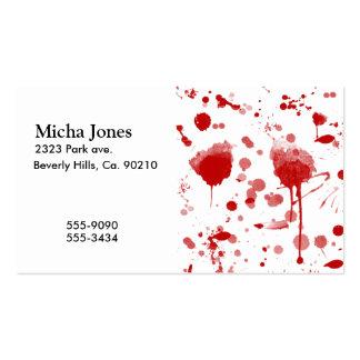 Bloody Mess Drips Splatters Custom Color BG Business Card