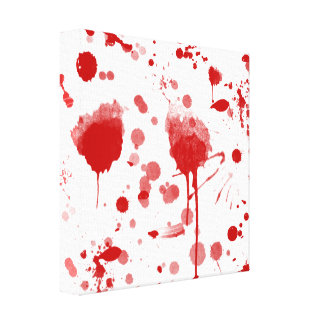 Bloody Mess Drips Splatters Custom Color BG Canvas Print