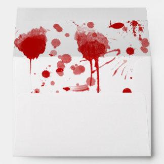 Bloody Mess Drips Splatters Custom Color BG Envelopes