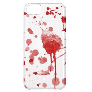 Bloody Mess Drips Splatters Custom Color BG iPhone 5C Case