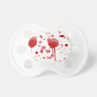 Bloody Mess Drips Splatters Custom Color BG BooginHead Pacifier