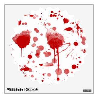 Bloody Mess Drips Splatters Custom Color BG Wall Sticker