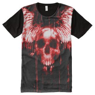 Bloody Messenger Skull Airbrush Art All-Over-Print T-Shirt