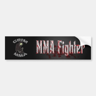 Bloody MMA Fighter bumper sticker