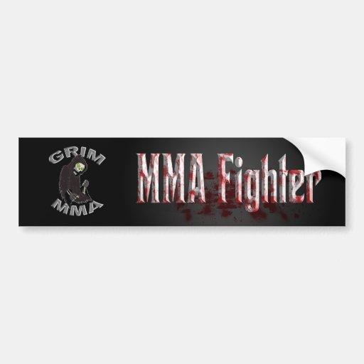 Bloody MMA Fighter bumper sticker Car Bumper Sticker