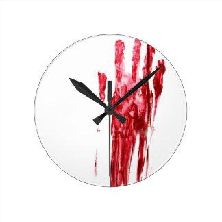 Bloody murder round clock