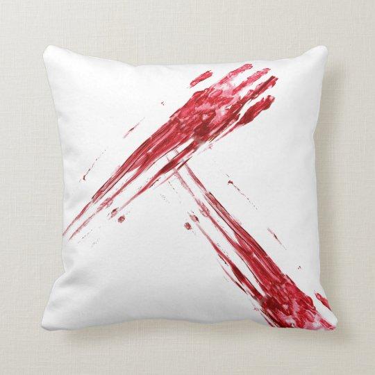 Bloody murder throw pillow