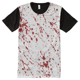 Bloody Nightmare Halloween, Blood Horror Spatter All-Over-Print Shirt
